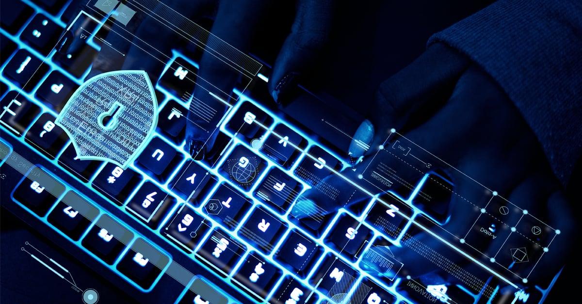 Cyber Security Keyboard Hacker Image