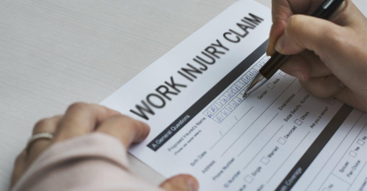 work injury blur